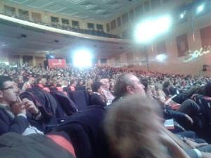 Aspecto que mostraba el salón en tanto intervenía Zapatero