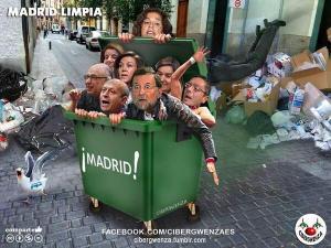 Responsables basuras de con sus políticas haber provocado la huela de la basura