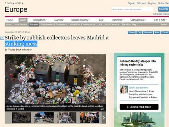 Madrid en las portadas de la prensa internacional como una vergüenza