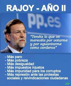 El PP, con Rajoy a la cabeza cumple su bienio negro
