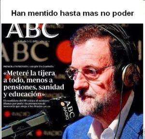 Diario ABC en plena campaña electoral (03.11.2011)