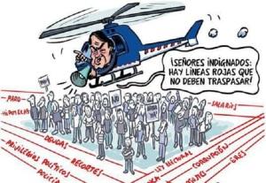 Artur Mas, tampoco tuvo condescencencia con las protestas a su política económica neoliberañ