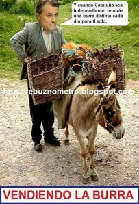 Artur Mas vendiendo la burra