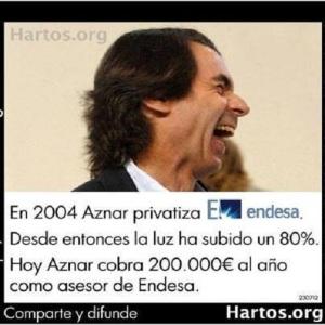 Aznar, un servidor de Endesa