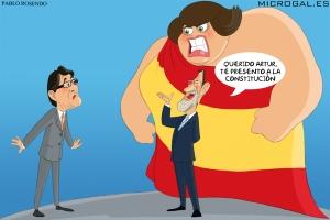 Rajoy, inmóvil en la sola reiteración de presentar al mesiánico Mas, a la misma.