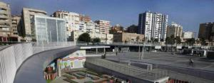 Cubo en el Puerto de Málaga