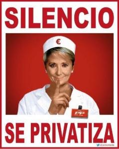 LA Sanidad Pública, continúa en la misma dirección de privatización que ya iniciara Esperanza Aguirre en la Comunidad de Madrid