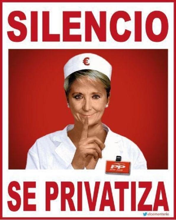 LA Sanidad Pública, continúa en la misma dirección de privatización que ya iniciara eseperanza Aguirre en la Comunidad de Madrid