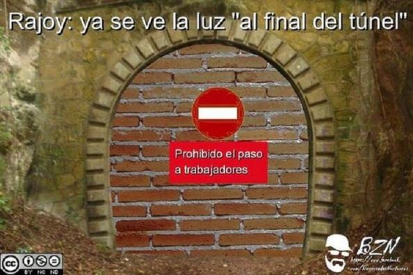 La salida del túnel que vio Rajoy y todos los demás.