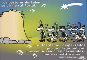 Ni los partores de Belén se libran de esta Ley made Fernández