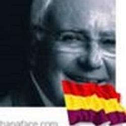 Manuel Ruiz Benítez, en su foto del portal de facebook,  veterano luchador contra el franquismo indignado con lo que estaba viendo