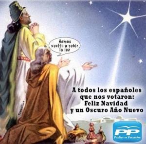 Deseos del PP de infeliz Navidad