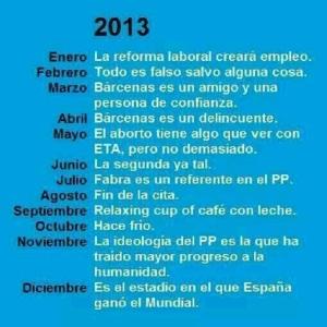 Mientras estos preocupantes datos nos han venido sucediendo, también en el 2013, Rajoy y el PP ofrecían estas respuestas.