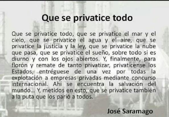 Con Saramago, sobran más palabras