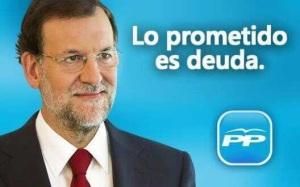 Rajoy, de la promesa electoral a su realidad.