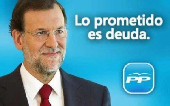 La promesa de Rajoy. Fin de la cita