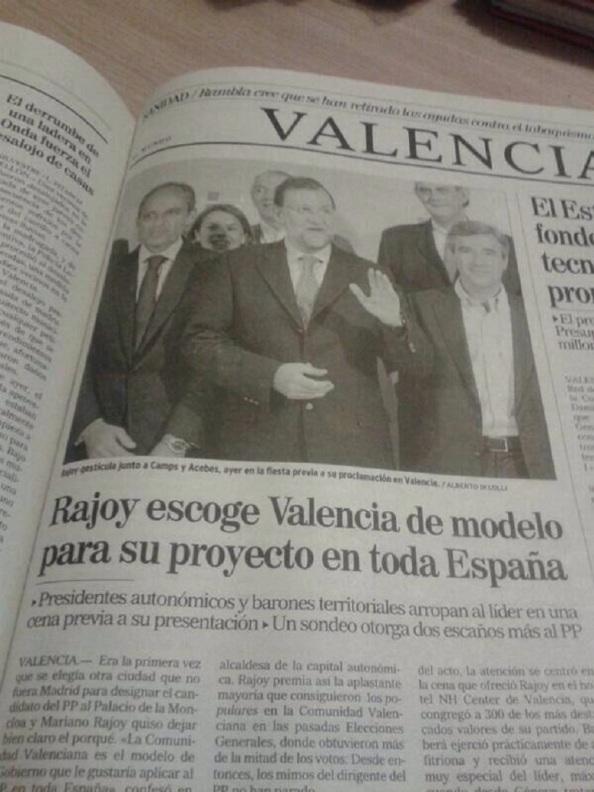 La única promesa que tal vez haya cumplido Rajoy para catapultarnos a la corrupta y sinvergozonería                                                            c