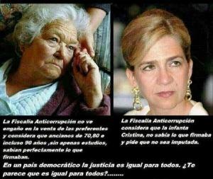 Las dos varas de medir de la Fiscalía, con las preferentes y con la Infanta Cristina.