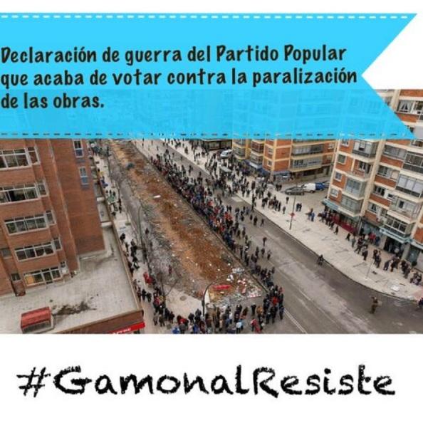 Gamonal. Los vecinos se echaron a la calle para impedir la reanudación de las obras cuando lo aprobó el PP