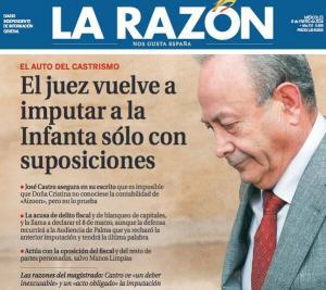 El libelo La Razón, con su característica manipulación, a la vez que presenta al juez, jugando con su apellido, como un doctrinario castrista.