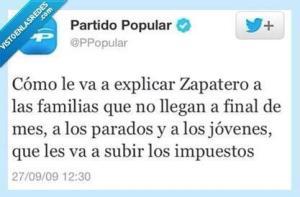 Lo que decía el PP sobre el paro en twitter el 27.09.2009