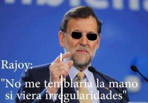 """El """"ciego"""" de Rajoy no vio irregularidades en su PP, pero sí ve la recuperación económica y del empleo"""