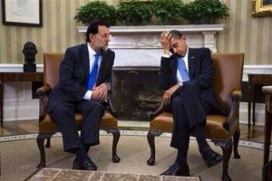 El gran entusiasmo que mostraba Obama, que creó dos millodes de puestos de trabajo en el 2013, frente al cuento que le narraba Rajoy