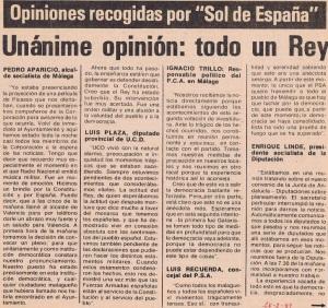 Reacciones políticas desde Málaga sobre el fracasado Golpe.