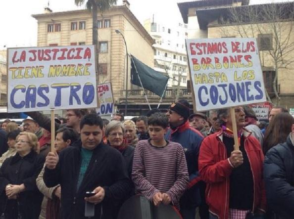 Apoyo al juez Castro y contra los Borbones.