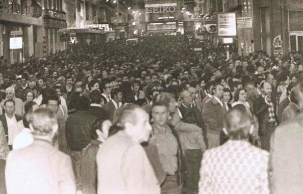 Calle Larios cubierta de manifestantes