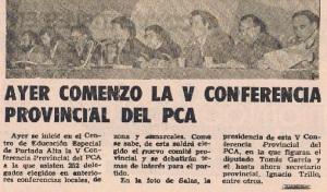 Inicio de la V Conferencia PCA Málaga. Diario Sur