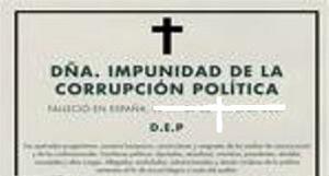 El 95% de los españoles cree que la corrupción política es generalizasa. Poner fin a la impunidad, tarea prioritaria