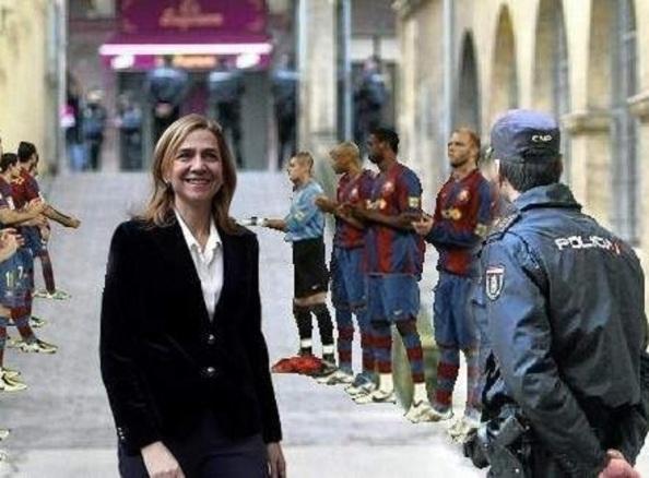 El Barça tampoco quería irónicamente ser menos.