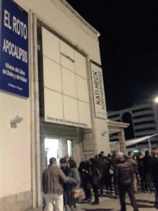 """Entrada al CAC de Málaga donde expone """"El Roto"""", el día de su inauguración."""