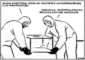"""""""Hemos detectado votos resistentes a la manipulación"""" (El Roto)"""
