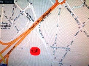 Punto exacto de donde tuvo lugar la reunión para coordinación del PCE de Málaga frente al 23F