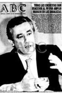 El diario ABC, como no, le daban sus encuestas la mayoría absoluta a Javier Arenas.