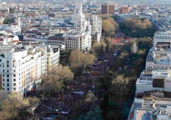 De la Castellana a Atocha repleta