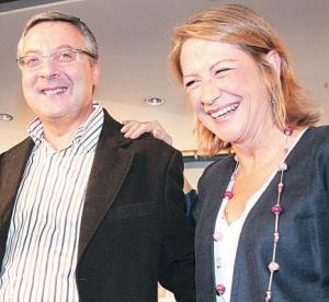 José Blanco  e Inmaculada Rodríguez-Piñero