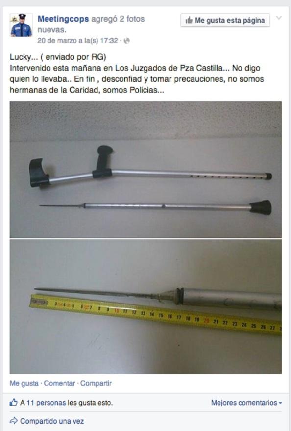 Informa un portal de policías en el twitter sobre lo hallado en los alrededores de la Plaza de Castilla