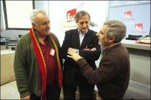 Cayo Lara, Willy Meyer y Gaspar llamazares
