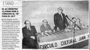 La dignidad del ex-ministro de la UCD, apostando por Andalucía.