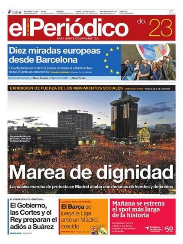 """""""El Periódico"""" de Barcelona, una excepción."""