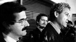 Dimisión del carismático Rafael Escuredo, febrero 1984, junto a Borbolla y Yaez.