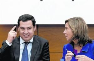 Moreno Bonilla con Ana Mato, aprendiendo a recortar