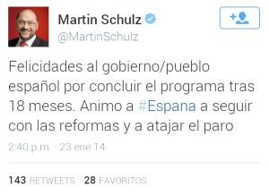 Marchando una felicitación a Rajoy. Otra cosa son los mítines.