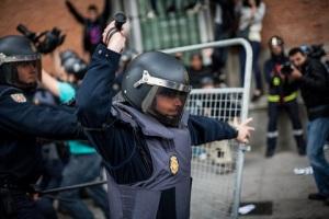 Carga policial 25S dentro de la Estación de Atocha