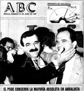 Nueva mayoría absoluta del PSOE de Andalucía en junio de 1990