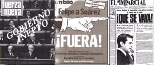 La misma prensa que aduló a Suárez, pedía su marcha.