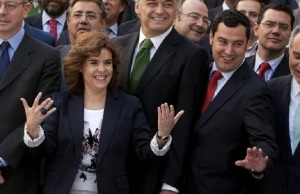 Moreno Bonilla con Soraya Sáenz